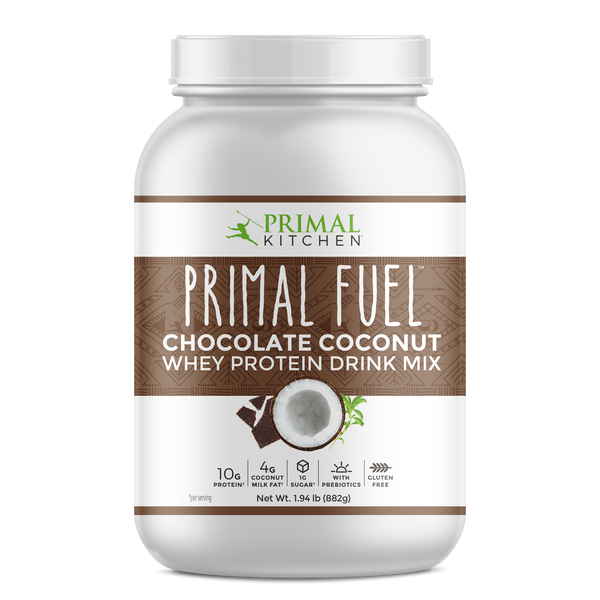 What's Inside Primal Fuel: Chocolate Coconut Whey Protein Drink Mix