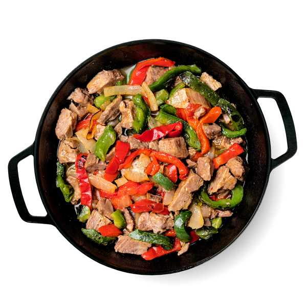 What's Inside Steak Fajitas Skillet
