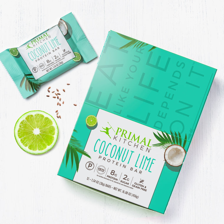 Coconut Lime Protein Bars - 12 count