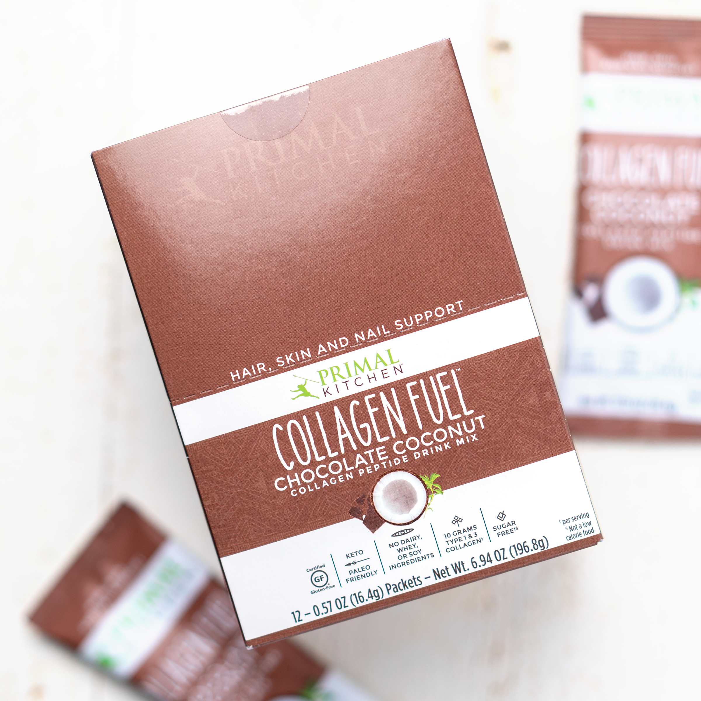 Chocolate Collagen Fuel® Drink Mix Packets — 12 Count