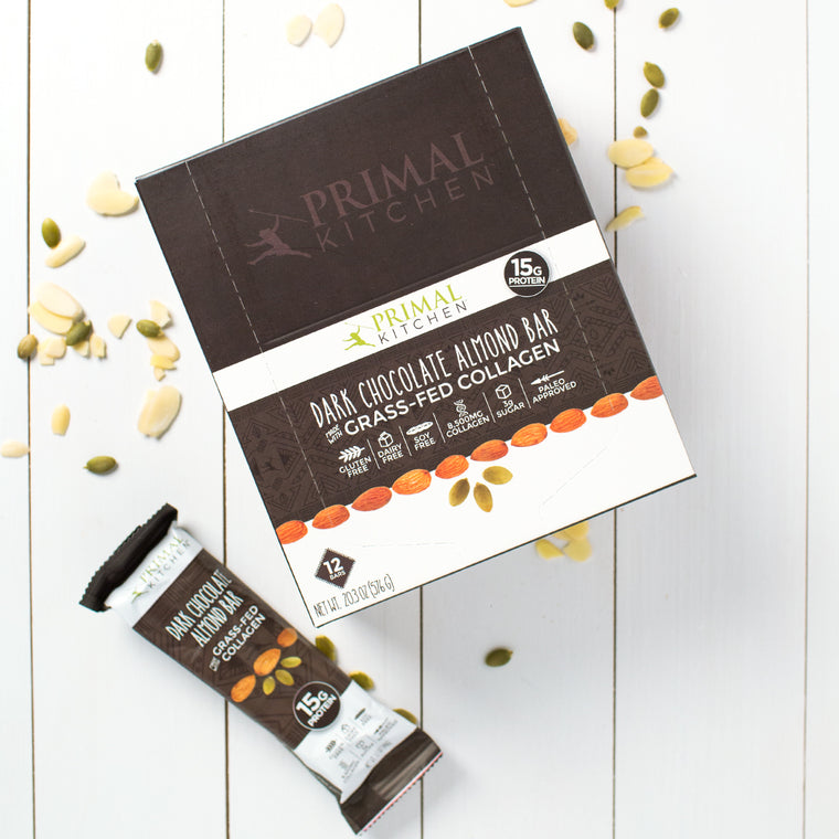 Dark Chocolate Almond Collagen Protein Bar