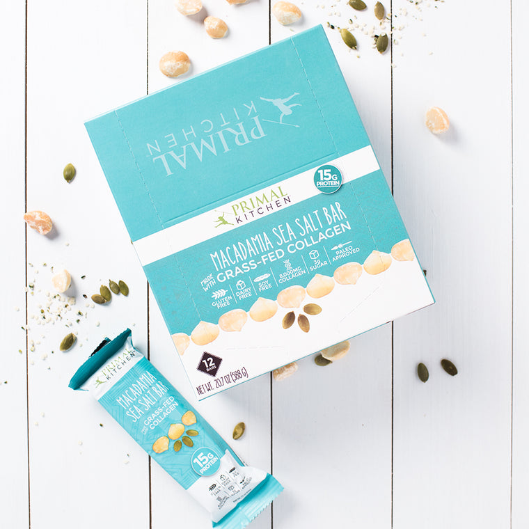 Macadamia Sea Salt Collagen Protein Bar