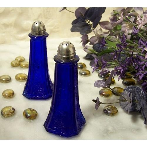 Blue Floral Salt and Pepper Shakers