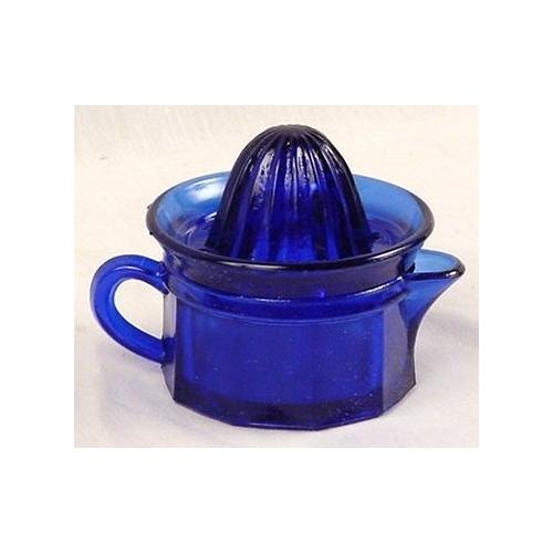 Cobalt Blue Glass Juicer