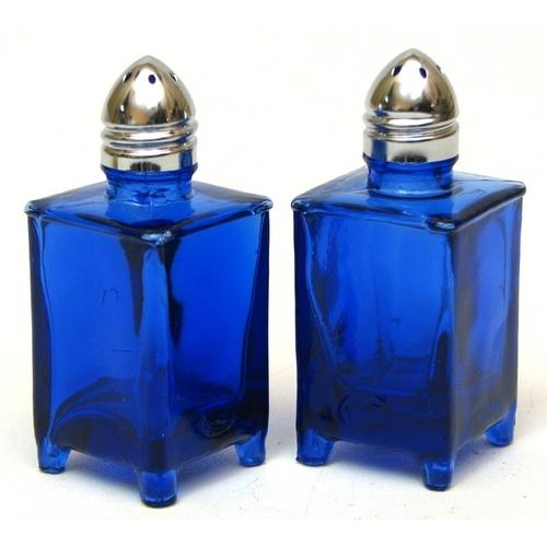 Blue ice small square Salt & Pepper Shakers