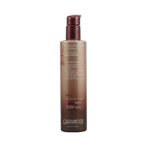 Giovanni 2chic Ultra-Sleek Body Lotion with Brazilian Keratin and Argan Oil - 8.5 fl oz