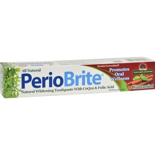 Nature's Answer Periobrite Toothpaste - Cinnamon - 4 oz