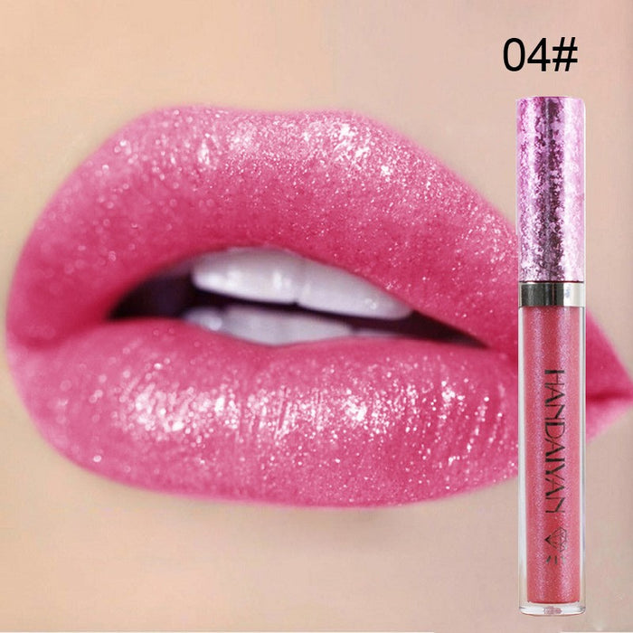 6 Colors Diamonds Metals Serial Liquid Lipstick