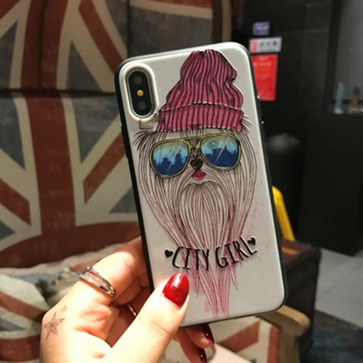 3D Super - Super Embossed Cartoon Cell Phone Protection Sleeve iphone8