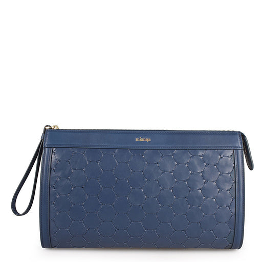 Anqa Leather Clutch | Blue