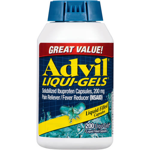 Advil Pain Reliever/Fever Reducer Liqui-Gels, 200 mg, 200 Ct