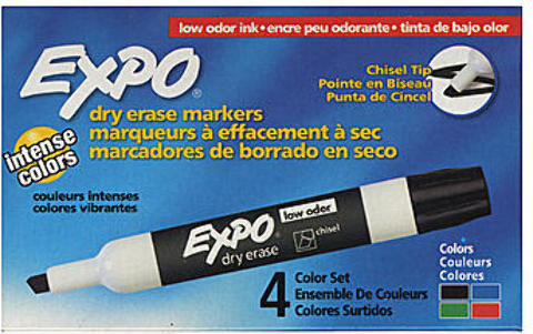 Expo Low-Odor Dry Erase Marker Sets (Set of 4)