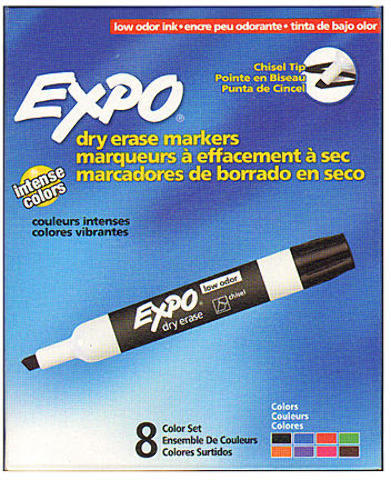 Expo Low-Odor Dry Erase Marker Sets (Set of 8)