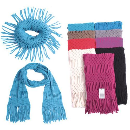 Crochet Scarves - Solid Colors