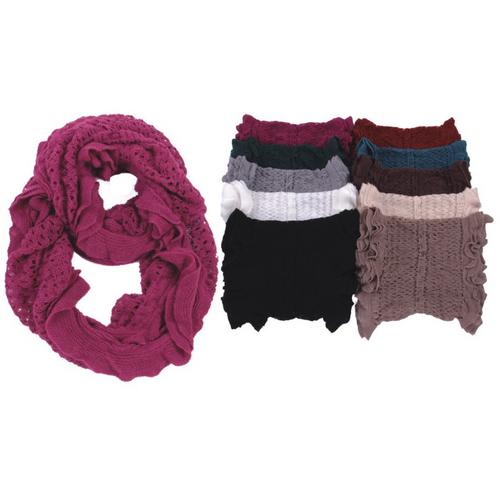 Crochet Infinity Scarves - Solid Colors