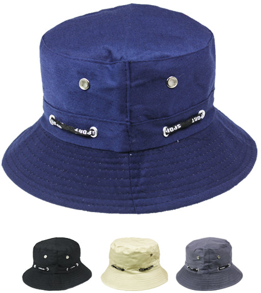 Mens Assorted Color Bucket Hat