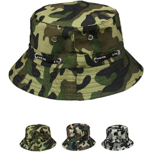 Mens Camouflage Bucket Hat