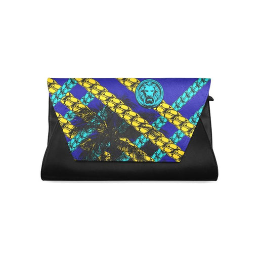 Blue Chain Black Women's Clutch Bag