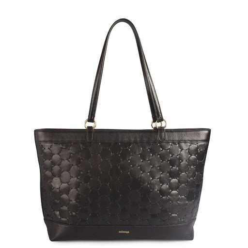 Anqa Leather Tote Bag | Black
