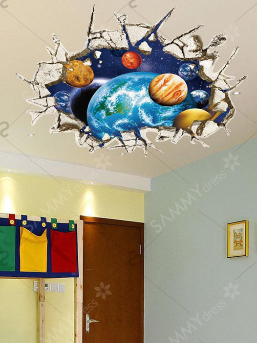 3D Galaxy Removable Wall Stickers For Living Room