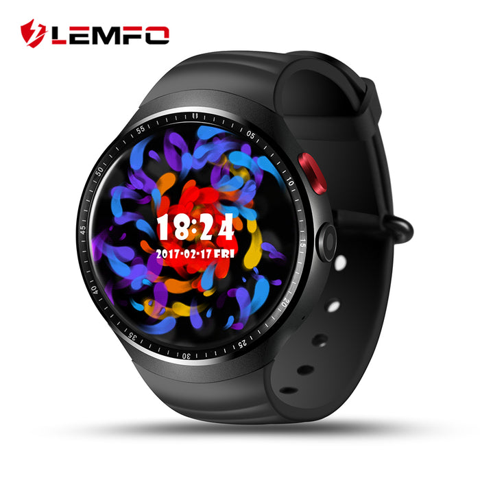 "2017 NEW! LEMFO LES1 Bluetooth Smart Watch MTK6580 1.39"" OLED Round Support SIM Card For Android IOS Phone"