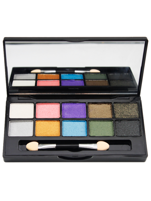 10 Colours Portable Shimmer Matte Eyeshadow Palette - #01