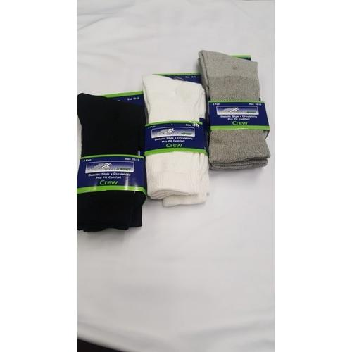 Advance Men's Diabetic Crew Socks - Size 10-13