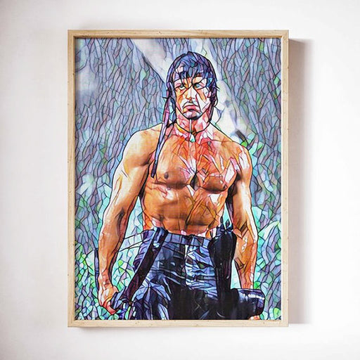 Rambo Movie Poster Art Canvas Print Wall Decor Canvas Cinema Poster Print Designer Art Painting Wall Art Decor Home Decor Home Gift Stallone