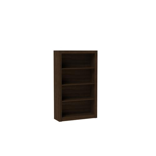 Accentuations by Manhattan Comfort Classic Olinda Bookcase 2.0 with 4-Shelves in Tobacco