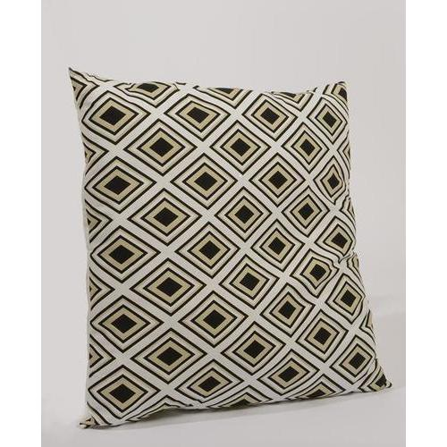 "30"" Urban Life Over-Sized Neutral Geometic Diamond Patterned Decorative Floor Throw Pillow"