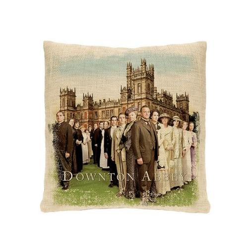 "18"" Downton Abbey Cast British Decorative Square Throw Pillow"