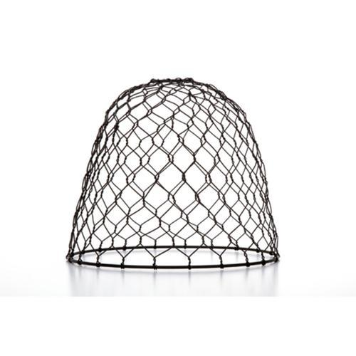 "10"" Cleveland Vintage Lighting Black Chicken Wire Dome Lamp Shade"