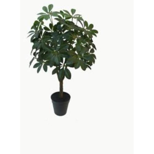 "23"" Artificial Schefflera Arboricola Topiary Tree Decorative Potted Plant"