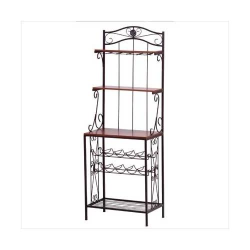 Bakers Style Wine & Glass Rack (pack of 1 EA)