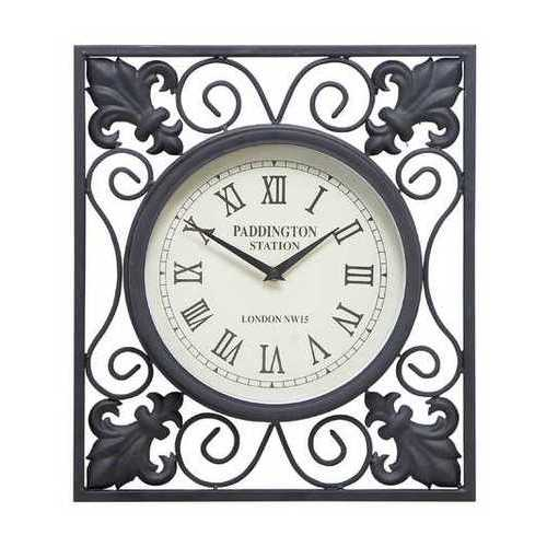 Metal Outdoor Wall Clock A Low Budget Home Interior Fashion