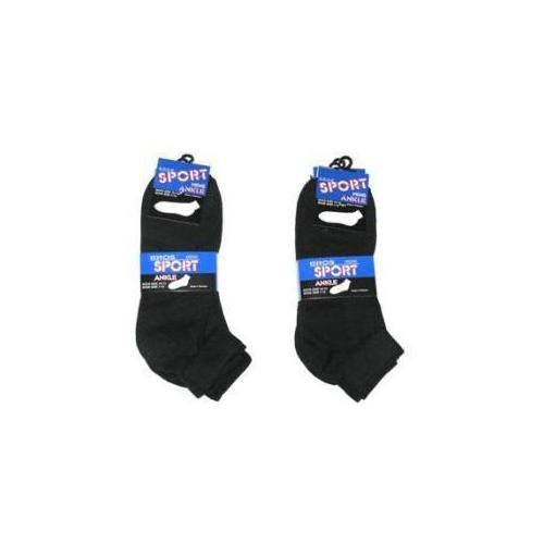 Mens Black Ankle Socks - Size 10-13