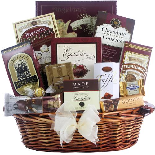 GreatArrivals.com Gift Baskets Great Arrivals Peace & Prosperity Medium Chocolate Christmas Gift Basket
