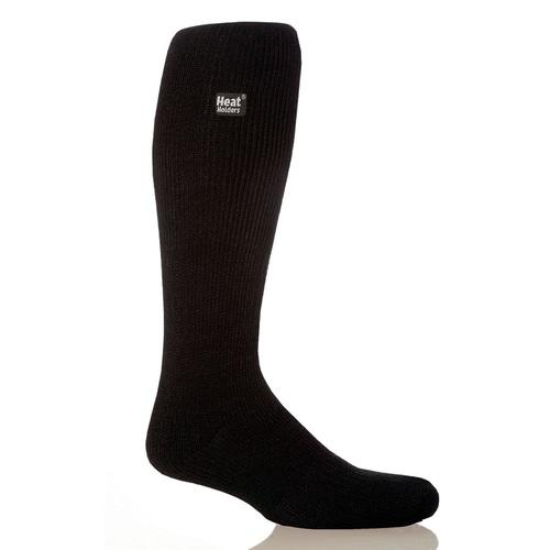 Grabber Heat Holders Mens Long Socks-Black
