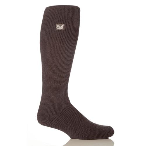 Grabber Heat Holders Mens Long Socks-Charcoal