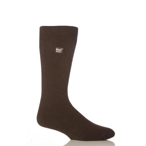 Grabber Heat Holders Mens Original Crew Sock-Brown