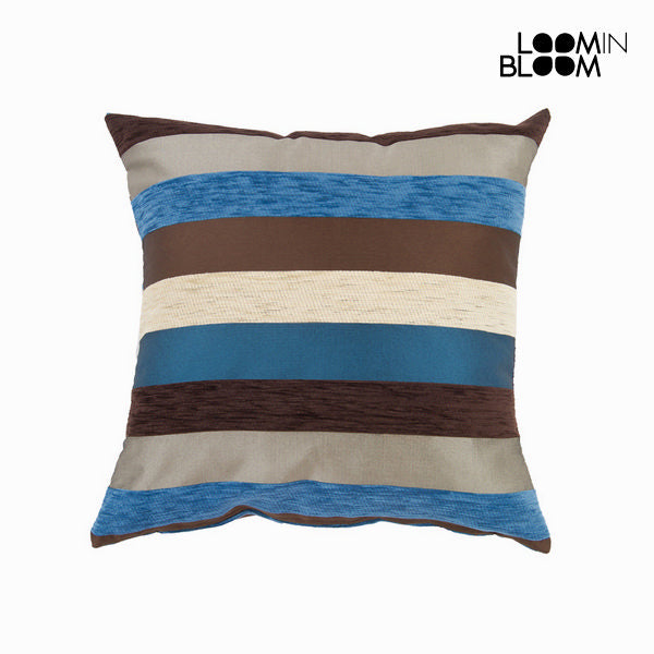 Blue motegi cushion - Colored Lines Collection by Loom In Bloom