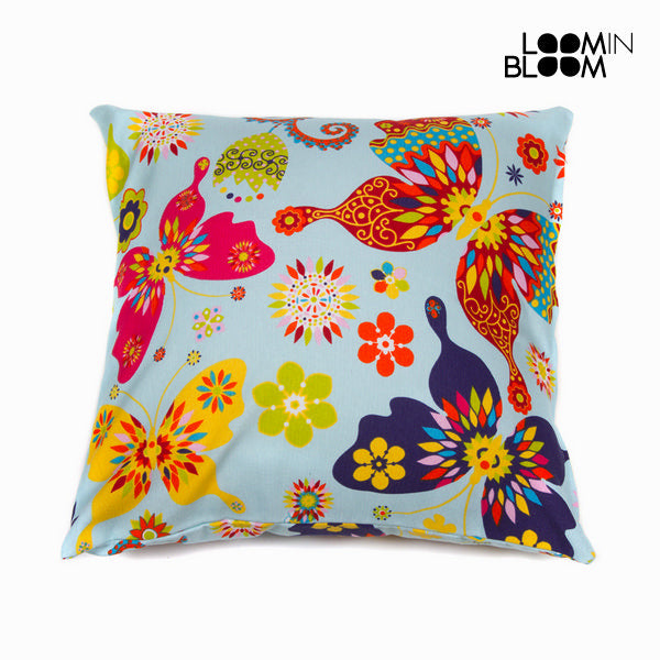 Blue paula cushion by Loom In Bloom