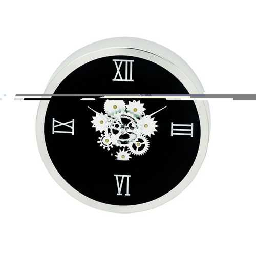 42825 Designer Stainless Steel Gear Wall Clock