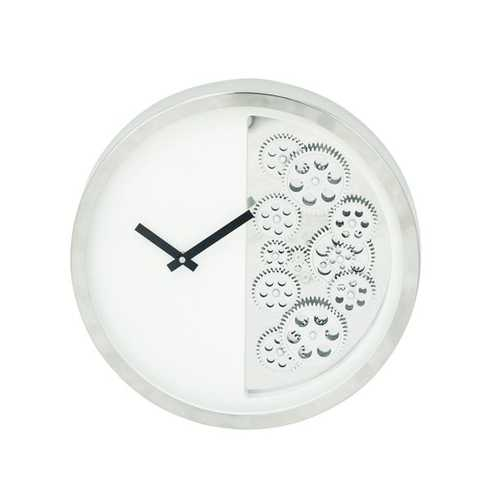 42829 Designer Stainless Steel Gear Wall Clock