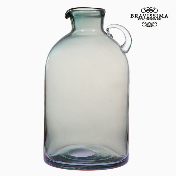 Blue glass jar with handle by Bravissima Kitchen