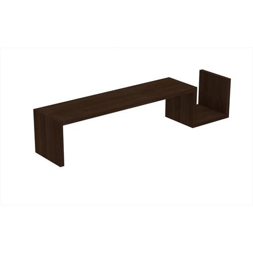"Accentuations by Manhattan Comfort Zemmur ""S"" Shaped Floating Wall Mount Shelf in Tobacco"