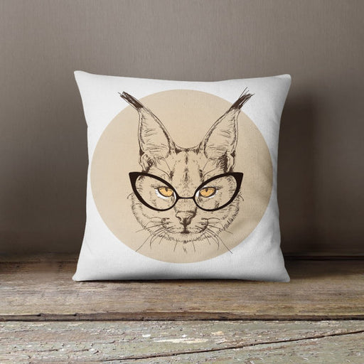 Cat Hipster Decorative Throw Pillow Cover Pillowcase Design Pillow Case Birthday Gift Idea Him Her Home Decor Animal Hipster Fashion Kitten