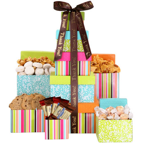 Alder Creek Gift Baskets Thank You Treats Tower Gift Set