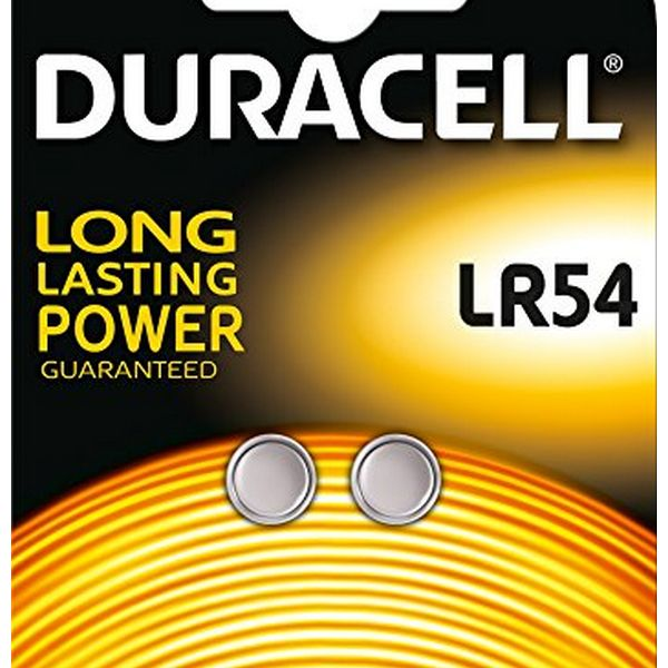 Alkaline Button Cell Batteries DURACELL DRBLR542 LR54 1.5V (2 pcs)