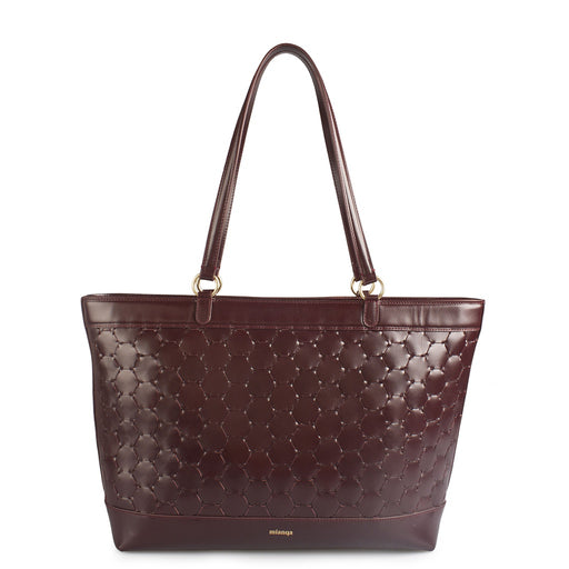 Anqa Leather Tote Bag | Bordeaux